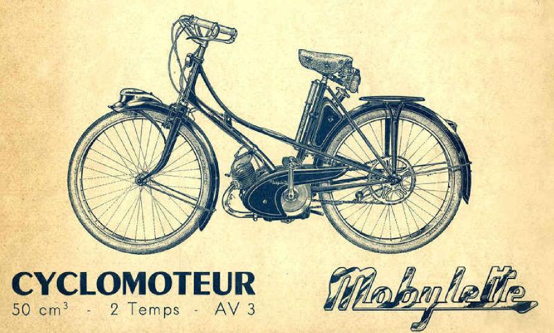 Mobylette Motobécane AV3 de 1949
