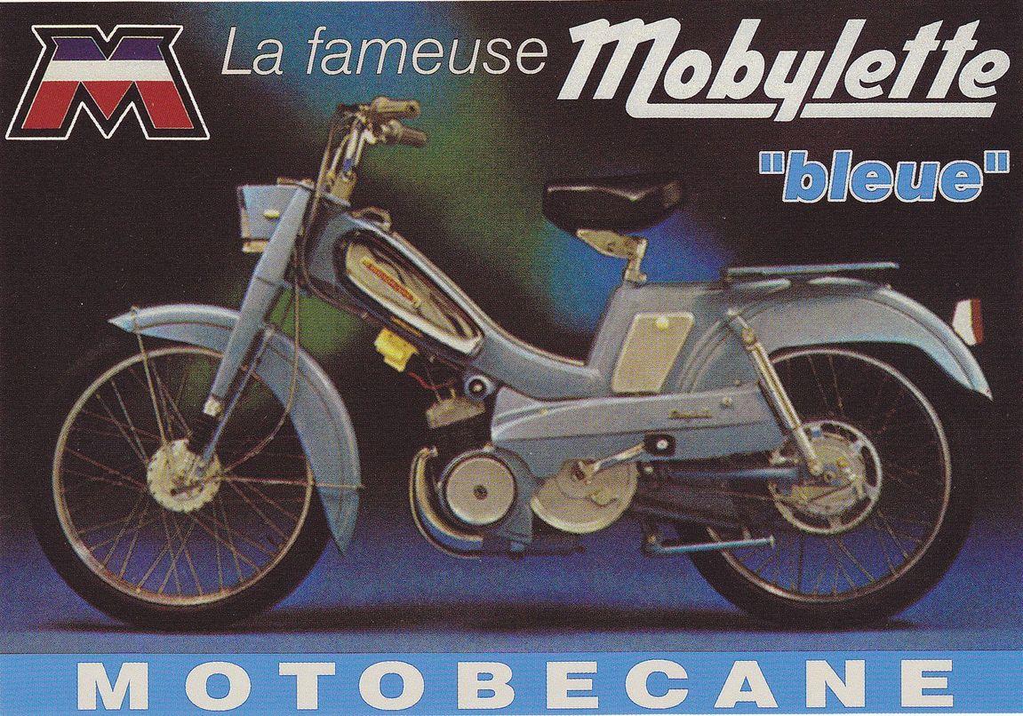 Mobylette Motobécane Bleue